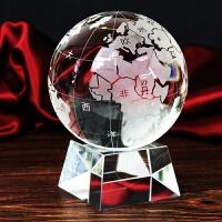 水晶球 水晶 地球仪 奖杯 摆件 定做 水晶工艺品 镇宅水晶风水球
