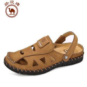 骆驼牌男鞋 夏季新品 男包头透气时尚舒适凉拖两用
