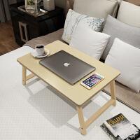 寝室宿舍笔记本电脑桌床上用懒人桌实木大号可折叠学习小书桌子大学生床上小桌