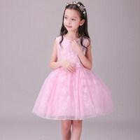 女童蕾丝花朵连衣裙夏韩版儿童蓬蓬裙公主裙中大童小女孩裙子