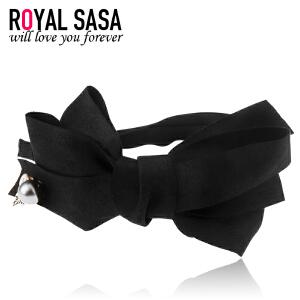 皇家莎莎RoyalSaSa发箍发饰韩国宽边头箍蝴蝶结女头饰布艺时尚韩版发卡子