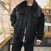 男士棉衣2018新款韩版男潮流学生冬季加绒加厚棉袄羊羔毛外套