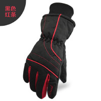 户外保暖加绒加厚滑雪手套女 时尚女款防风防水保暖手套 骑行手套女