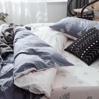 床上四件套全棉纯棉床单被套用品北欧风被罩4件套床品