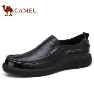 camel 骆驼男鞋 秋季新品日常休闲真皮套脚舒适休闲男士皮鞋子