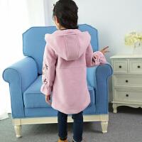 女童毛呢外套小女孩童装冬装中大儿童毛呢子大衣