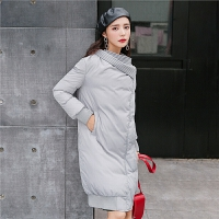 中长款羽绒服女冬装2018新款韩国韩版宽松时尚茧型大翻领外套厚潮