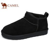 camel 骆驼男靴 新款秋冬反绒牛皮雪地短靴加绒保暖时尚靴子男鞋