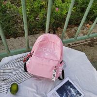 可爱小猫印花双肩包女韩版chic防水尼龙书包女中学生校园休闲背包