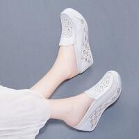 真皮凉鞋女包头凉拖鞋女松糕拖鞋女厚底牛皮坡跟高跟鞋勃肯鞋平底休闲鞋女单鞋夏季新款