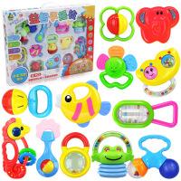 宝宝益智玩具婴儿摇铃新生儿摇铃牙胶礼盒12件套