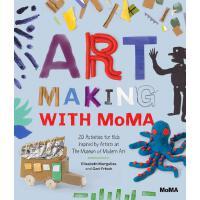 英文原版 与MOMA创造艺术 儿童互动活动书 艺术启蒙 纽约现代艺术博物馆 手工书 Art Making with Mo