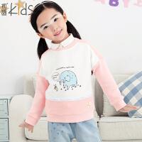 初语童装 冬季 女童卫衣 卡通女童卫衣儿童卫衣T5405210062