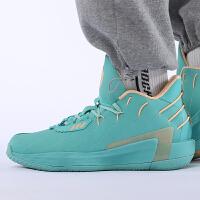 幸运叶子 阿迪达斯男士运动鞋冬季新款鞋子绿色利拉德减震篮球鞋FZ1093