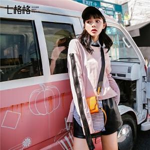粉色卫衣女装2018新款春装ins原宿韩版学生套头宽松bf风短款长袖