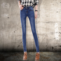Modern idea新款牛仔裤女长裤修身显瘦小脚裤中腰弹力休闲铅笔裤