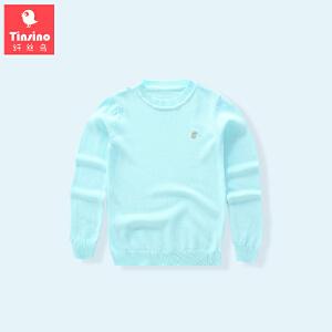 【1件3折价:59.7】纤丝鸟(TINSINO)女童毛衣儿童针织衫中大童净面毛衫