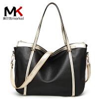 【送手包】女包单肩大包2018新款大容量女士包包欧美简约百搭休闲软皮职业手提包