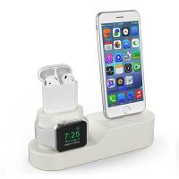 iphone手机充电支架苹果手表桌面apple watch/airpod充电底座3合1