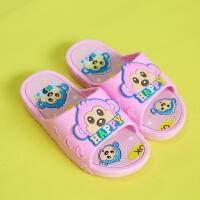 儿童拖鞋夏女 小公主家居室内浴室防滑可爱卡通男童女童男凉拖鞋 粉红 B猴子