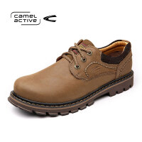 骆驼动感(camel active) 牛皮大头工装鞋潮款圆头休闲鞋耐磨工装鞋