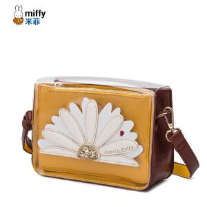 Miffy/米菲2017夏季新款包包女果冻包小方包百搭斜挎包复古单肩包