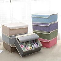 布艺内衣收纳盒装内衣内裤的收纳盒家用袜子收纳格韩式整理箱宿舍