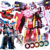 巨神战击队3救分队玩具套装冲锋战击王2金刚变形机器人召唤器