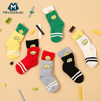 迷你巴拉巴拉宝宝短袜秋新款儿童针织袜子韩版棉袜潮