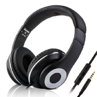 耳机头戴式手机通用重低音线控跑步有线耳麦游戏运动带