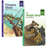 Easy Reader Classics 英文原版小说 3册全彩插图漫画版经典名著 金银岛 汤姆索亚历险记森林王子The Adventures of Tom