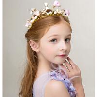 新款时尚公主水钻发箍儿童头饰 花童礼服皇冠头饰 新年女童发饰花童配饰