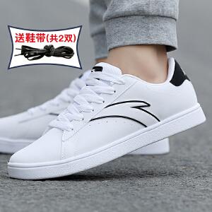 安踏板鞋男鞋秋季鞋子2018新款滑板鞋韩版潮休闲鞋透气运动鞋