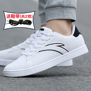 安踏板鞋男鞋2019春季新款休闲鞋滑板鞋运动鞋学生复古小白鞋正品