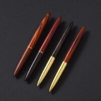 大红酸枝中性笔金属黄铜黑檀木质签字笔创意礼品个性定制logo刻字