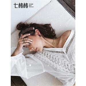 七格格设计感上衣心机v领春装女2019新款韩版宽松显瘦雪纺蕾丝衫