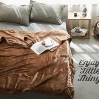 进口品质法兰绒床单毛毯被子单人双人珊瑚绒毯子加厚冬季单件加绒W【】