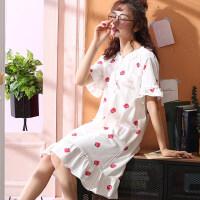 睡裙女夏季纯棉短袖韩版甜美清新薄款性感学生可爱孕妇睡衣女夏天