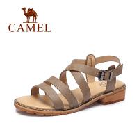 【每满200减100】camel骆驼女鞋夏季新款 休闲方跟罗马鞋 百搭露趾凉鞋
