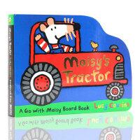 英文原版绘本Maisy's Tractor 小鼠波波 纸板造型 低幼儿童启蒙 拖拉机 纸板书 作者 Lucy Cous