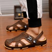 凉鞋男士拖鞋男夏季一字拖男凉拖鞋时尚韩版潮鞋室内外沙滩鞋 1827棕色 标准码