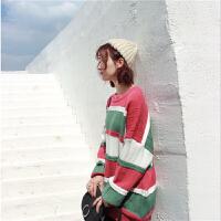 套头毛衣女宽松2019秋冬季韩版超火的外穿学生针织衫加厚 XL (120-130)斤