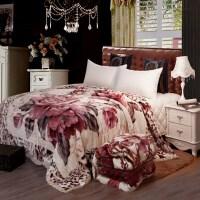毛毯婚庆双层加厚午睡单人毯子双人结婚盖毯大红结婚秋冬