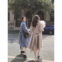 小个子中长款毛呢外套女秋冬新款宽松长袖流行呢子大衣潮