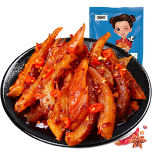 【高坪馆】麻辣鱿鱼条20g*10包 四川特产蜀道香海鲜麻辣味零食小吃