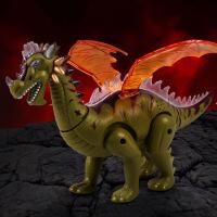 儿童玩具仿真电动恐龙 灯光投影翅膀会拍动动物模型玩具