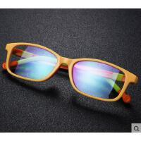 户外新款儿童变色防蓝光眼镜护目镜 韩版时尚方框卡通电脑手机防辐射平光镜
