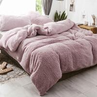 办公室午休毯子 冬季加厚羊羔绒毛毯被珊瑚绒被套毯子三件套单双人午睡毛毯小被子
