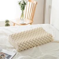 简约枕头乳胶按摩护颈枕单人学生睡眠枕芯家用枕头一只