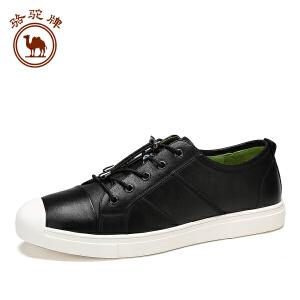 骆驼牌休闲男皮鞋 新品系带低帮男板鞋日常休闲皮鞋时尚